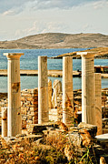 Delos Prints - Cleopatras House On Delos Print by Linda Pulvermacher