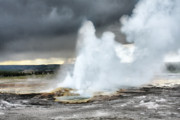 Smoke Prints - Clepsydra Geyser West Yellowstone National Park USA WY Print by Christine Till