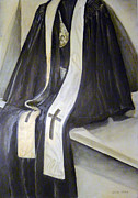 Linda Pope Metal Prints - Clergy Attire Metal Print by Linda Pope