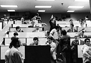 Stock Trading Prints - Clerks At The American Stock Exchange Print by Everett