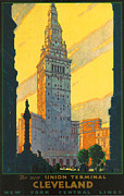 Terminal Prints - Cleveland - Vintage Travel Print by Nomad Art And  Design