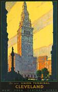 Cleveland - Vintage Travel Print by Nomad Art And  Design