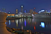 Reflecting Art - Cleveland Harbor by Robert Harmon
