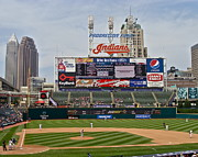 Progressive Field Posters - Cleveland Indians at Progressive Field Poster by MB Matthews