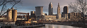 Cleveland Skyline From The Industrial Valley Print by At Lands End Photography