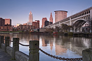 Cleveland Prints - Cleveland Skyline from the River - Landscape Print by At Lands End Photography