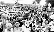 Agnew Prints - Cleveland Supporters Of The Nixon-agnew Print by Everett