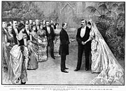 First Couple Prints - Cleveland Wedding, 1886 Print by Granger