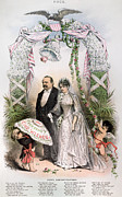 Puck Framed Prints - Clevelands Wedding, 1886 Framed Print by Granger