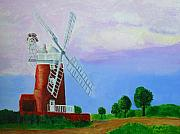Norfolk; Painting Prints - Cley Mill Print by Rodney Campbell