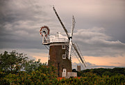 Norfolk; Prints - Cley Windmill Print by Chris Thaxter