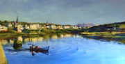 Irish Impressionist Painting Framed Prints - Clifden Harbour Framed Print by Conor McGuire