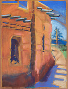 Los Angeles Pastels - Cliff Dwelling Los Alamos New Mexico by Suzanne Cerny