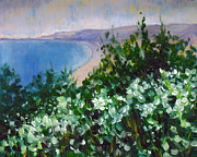 St.tropez Paintings - Cliff hangers by Hilary England