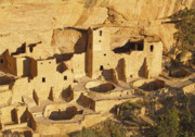 Mesa Verde Posters - Cliff Palace at Mesa Verde National Park Colorado Poster by Alex Cassels