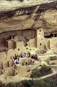 Early American Dwellings Posters - Cliff Palace Kiva Mesa Verde Poster by John  Mitchell