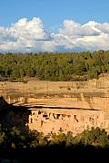Mesa Verde Framed Prints - Cliff Palace Landscape Framed Print by David Lee Thompson