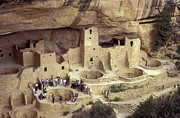 Early American Dwellings Framed Prints - Cliff Palace Mesa Verde Framed Print by John  Mitchell