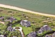Photo Flight Prints - Cliff Road Houses Nantucket Island 4 Print by Duncan Pearson