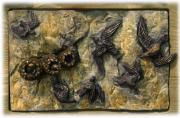 Birds Reliefs - Cliff Swallows by Dawn Senior-Trask