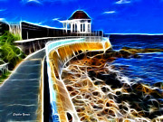 House Digital Art - Cliff Walk by Stephen Younts