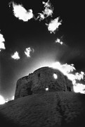 Black And White Photos Photos - Cliffords Tower by Simon Marsden