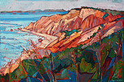 Oceanside Painting Prints - Cliffs in Color Print by Erin Hanson