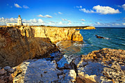 Spanish Architecture Framed Prints - Cliffs of Cabo Rojo at Sunset Framed Print by George Oze