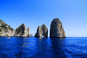 Natural Arch Posters - Cliffs Of Capri Poster by Antonio Camara
