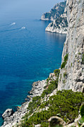 Cliffs Photos - Cliffs of Capri Italy by Jon Berghoff