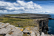 Aran Islands Framed Prints - Cliffs of Dun Aonghasa Framed Print by Michelle Sheppard