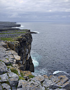 Inishmore Prints - Cliffs of Inishmore Print by Hugh Smith