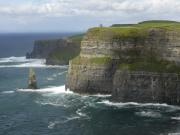 Seascape Digital Art Metal Prints - Cliffs of Moher 2 Metal Print by Mike McGlothlen