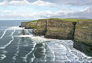 Tourist Attraction Digital Art - Cliffs of Moher by David O Reilly