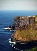 Jagged Edge Posters - Cliffs of Moher Ireland View of Aill Na Searrach Poster by Teresa Mucha