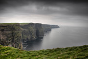 Green Grass Framed Prints - Cliffs Of Moher Framed Print by Tim Drivas