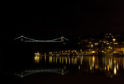 River Avon Prints - Clifton Suspension Bridge at Night Print by Brian Roscorla