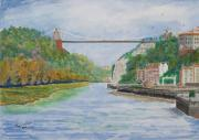 Clifton Painting Posters - Clifton suspension Bridge  Bristol Poster by Tony Williams