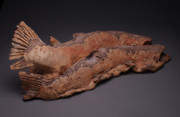 Fish Sculpture Ceramics - Climax VIII by Mark Chuck