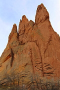 Garden Of The Gods Framed Prints - Climbing with the Gods Framed Print by Mike McGlothlen