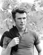 Sideburns Photo Framed Prints - Clint Eastwood, 1961 Framed Print by Everett