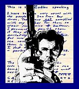 Celebrity Mixed Media Posters - Clint Eastwood as Dirty Harry Poster by Jason Kasper