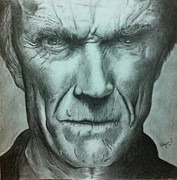 Dirty Harry Drawings - Clint Eastwood by Florijan Zegarac
