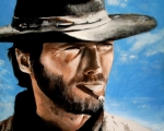 Cowboy Hat Paintings - Clint Eastwood by Nicholette  Haigler