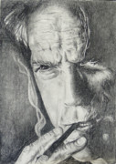 Dirty Harry Drawings - Clint Eastwood by Stephen Sookoo