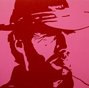 Clint Eastwood Art Paintings - Clint by John  Nolan