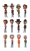 Eastwood Prints - Clint Print by Mitch Frey