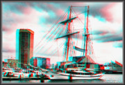 Usf Framed Prints - Clipper City - Use Red-Cyan 3D glasses Framed Print by Brian Wallace