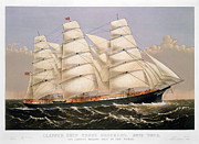 Currier Framed Prints - Clipper Ship, 1875 Framed Print by Granger