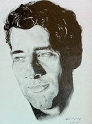 Head Shot Drawings - Clive Owen by Aaron Mayfield